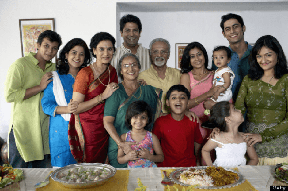 large joint families in India